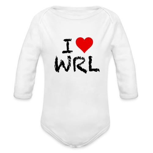 I Love WRL Babygrow - Organic Longsleeve Baby Bodysuit