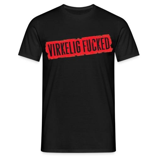 Herre T-shirt - Virkelig Fucked - Herre-T-shirt