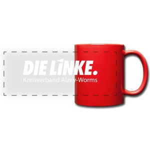 Tasse: DIE LINKE. Alzey-Worms - Panoramatasse farbig