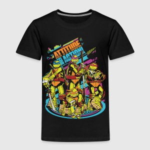 TMNT Turtles Attitude For Action - Premium-T-shirt barn