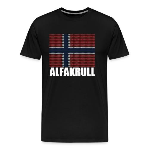 @ Alfakrull - Premium-T-shirt herr