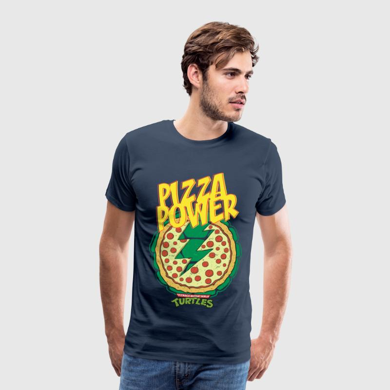 TMNT Turtles Pizza Power Shield - Men's Premium T-Shirt