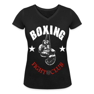 T-shirt Girl Boxing Fight Club - T-shirt col V Femme