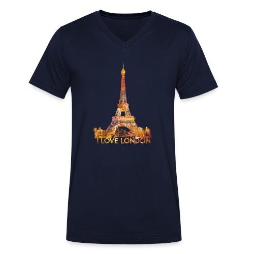 I love London 2 mannen v-hals bio - Mannen bio T-shirt met V-hals van Stanley & Stella
