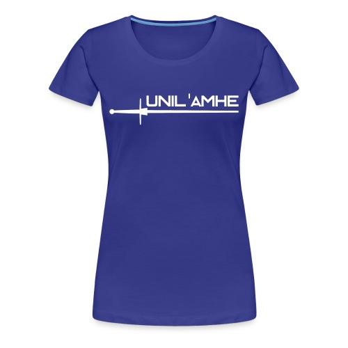 T-shirt Femme avec logo Unil'AMHE à l'avant - T-shirt Premium Femme