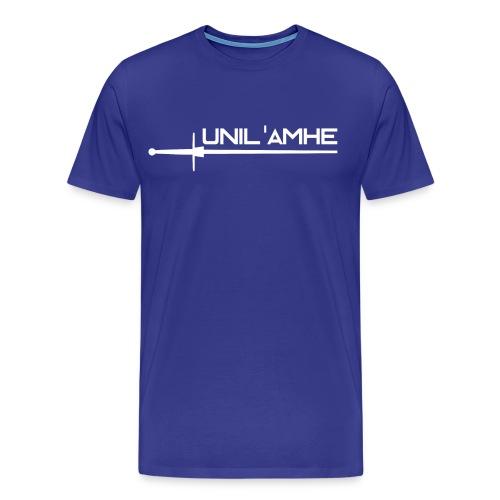 T-shirt Homme avec logo Unil'AMHE à l'avant - T-shirt Premium Homme