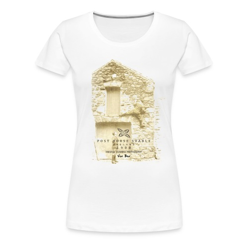 Post Horse Stable 1900 with women's T-shirt in white - Women's Premium T-Shirt