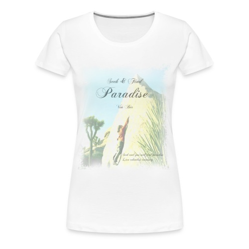 Curiosity with women's T-shirt in white - Women's Premium T-Shirt