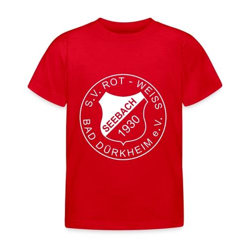 Kinder T-Shirt rot Logo Weiß - Kinder T-Shirt