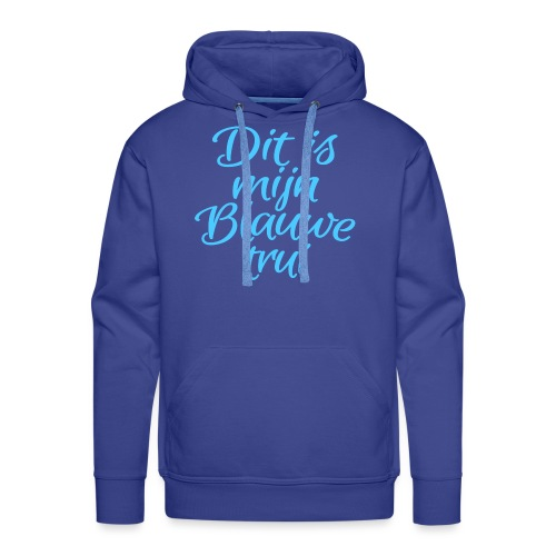 Blauwe trui mannen premium hoodie - Mannen Premium hoodie