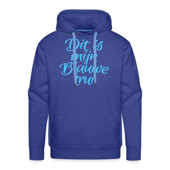 Blauwe trui mannen premium hoodie
