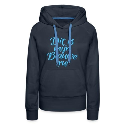 Blauwe trui vrouwen premium hoodie - Vrouwen Premium hoodie