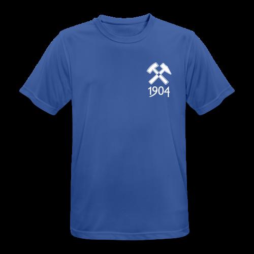 Männer T-Shirt atmungsaktiv Schlägel&Eisen - royal blau - Männer T-Shirt atmungsaktiv