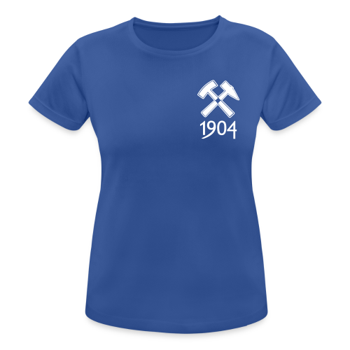 Frauen T-Shirt atmungsaktiv Schlägel&Eisen - royal blau - Frauen T-Shirt atmungsaktiv