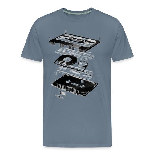 Old skool T-shirt met Cassette tape - Mannen Premium T-shirt