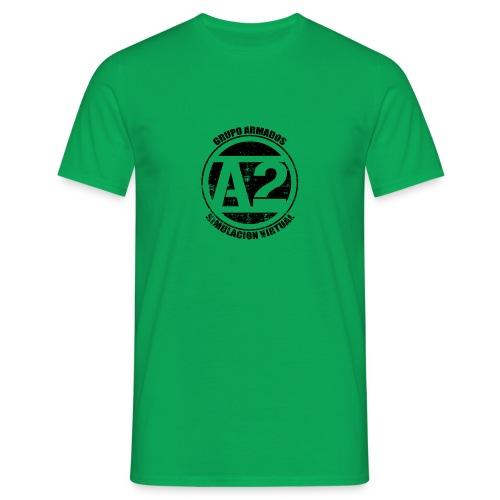 Camiseta blanca manga corta con logo central sin reverso - Camiseta hombre