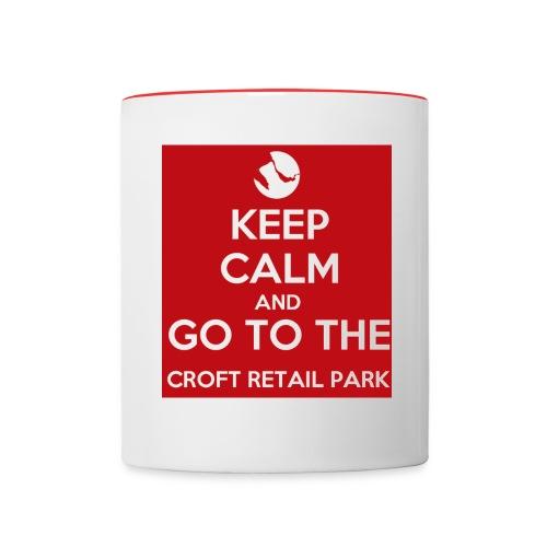 Keep Calm and Go To The Croft Retail Park Mug - Contrasting Mug