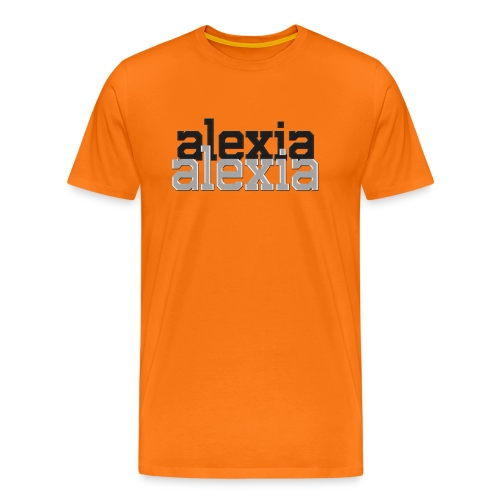 alexia Double Logo Tee - Men's Premium T-Shirt