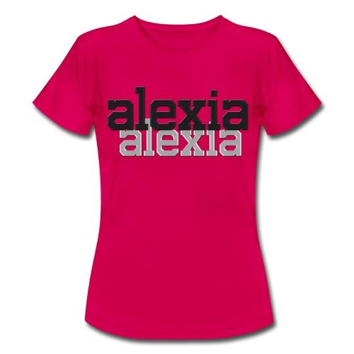 alexia Double-logo Light Red Tee - Women's T-Shirt