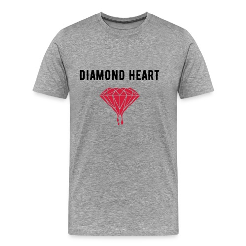 T-Shirt Diamond Heart - T-shirt Premium Homme