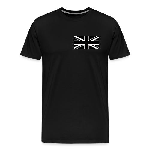 Black British Flag - Männer Premium T-Shirt