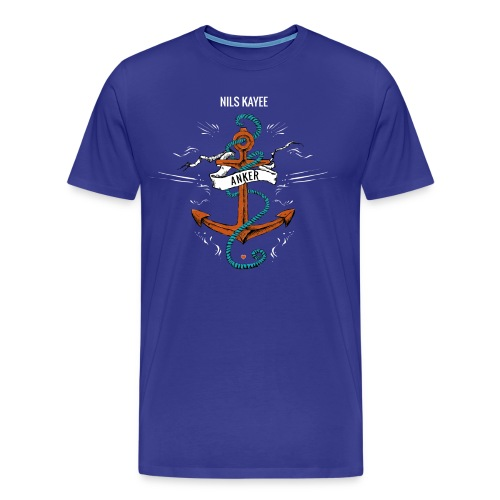 Anker-Shirt in Blau - Männer Premium T-Shirt
