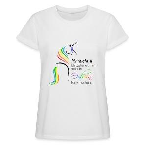 Einhorn-Party - Frauen Oversize T-Shirt