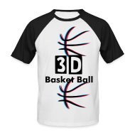 Tee shirts ~ Tee shirt baseball manches courtes Homme ~ 3D Basket Ball
