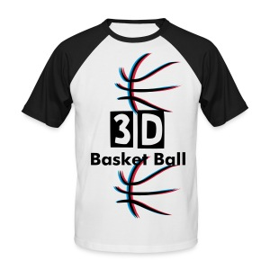 3D Basket Ball - T-shirt baseball manches courtes Homme