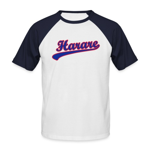 harare_scroll_t_11 - Men's Baseball T-Shirt