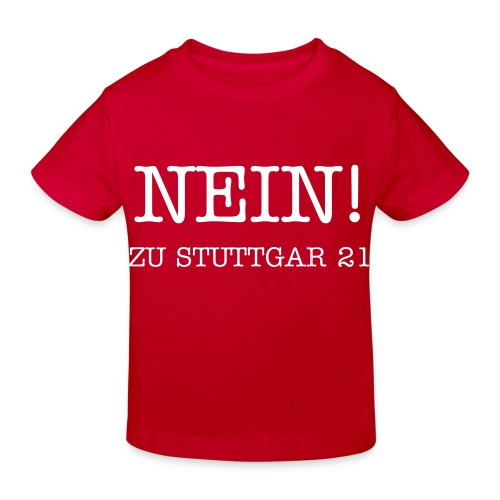 NEIN! Kinder T-Shirt rot - Kinder Bio-T-Shirt