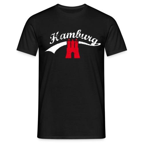 Schwarz Hamburg Retro T-Shirts - Männer T-Shirt