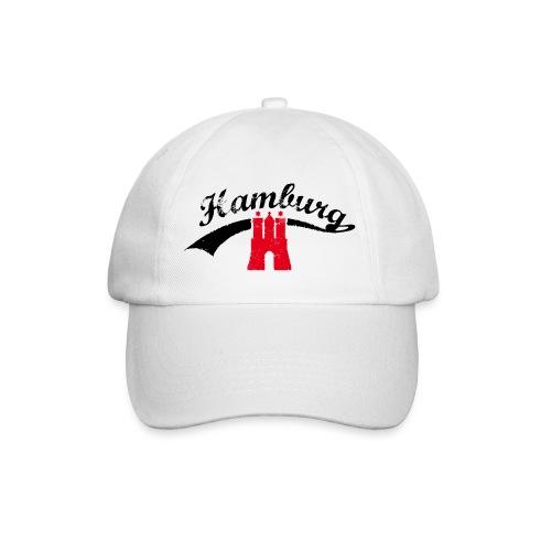 Weiß Hamburg Retro - Baseballkappe