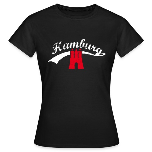 Schwarz Hamburg Retro - Frauen T-Shirt