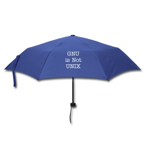 umbrella GNU is not UNIX - Umbrella (small)