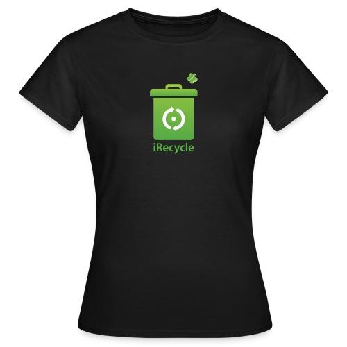 Ik recycle. Dames shirt - Vrouwen T-shirt