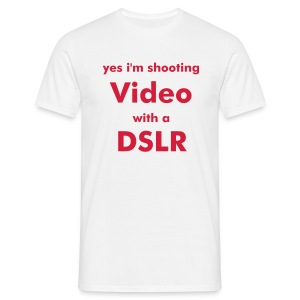Men's T-Shirt - DSLR,Fotokamera,film