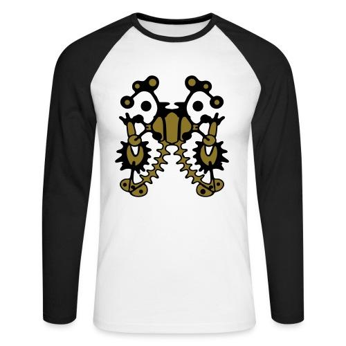 Tattoo Design Shirt Print - Männer Baseballshirt langarm