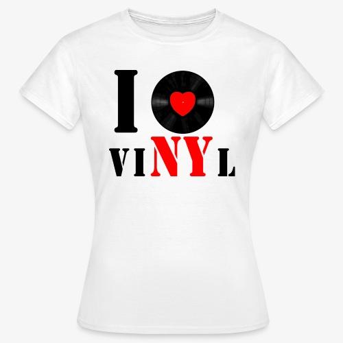 Frauen Klassik VINYL WEISS - Frauen T-Shirt