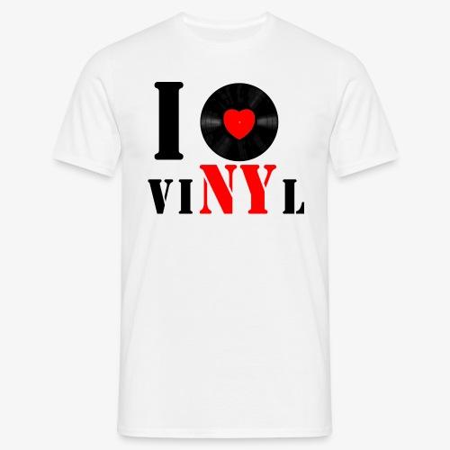 Männer Klassik VINYL WEISS - Männer T-Shirt