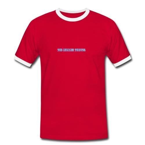 mens contrast red - Men's Ringer Shirt