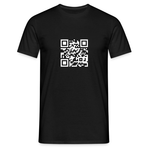 QR Barcode - met je eigen tekst - Mannen T-shirt