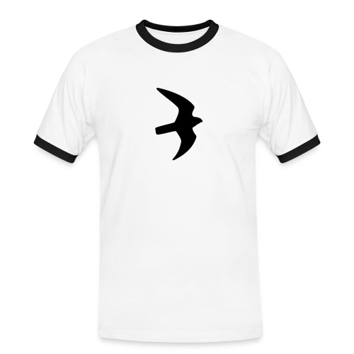 Greifvogel-Silhouetten - Männer Kontrast-T-Shirt