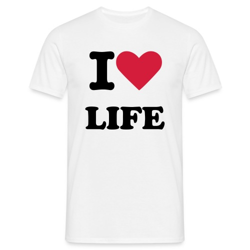 I love Life Mens T-shirt - Men's T-Shirt
