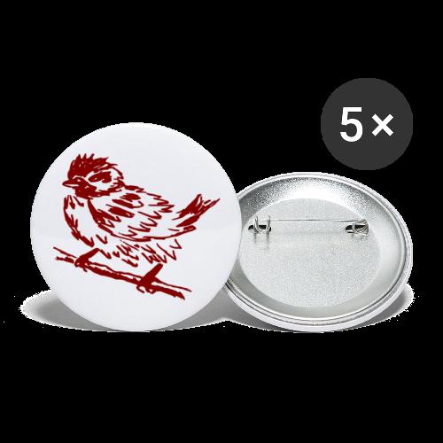Spatzen- Button - Buttons mittel 32 mm (5er Pack)
