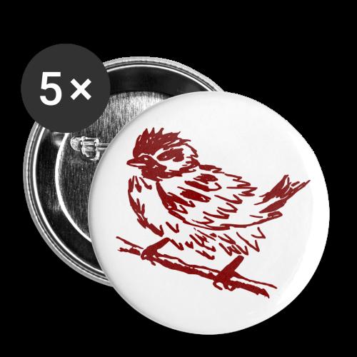 Spatzen- Button - Buttons mittel 32 mm