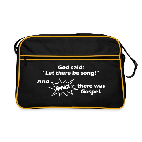 Let there be song! - Retro Tasche