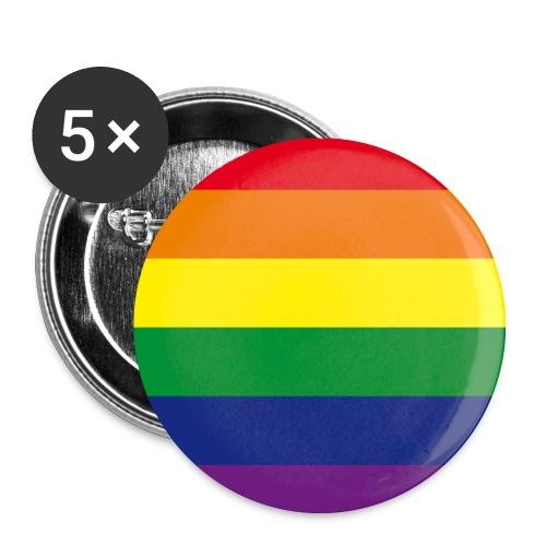 "Gay Anstecker ""Regenbogen"" 32 mm - Buttons mittel 32 mm"