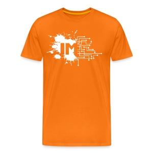 Immersive Tee - White Abbreviated on Orange - Men's Premium T-Shirt