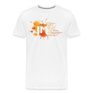 Immersive Tee - Orange Basic on White - Men's Premium T-Shirt